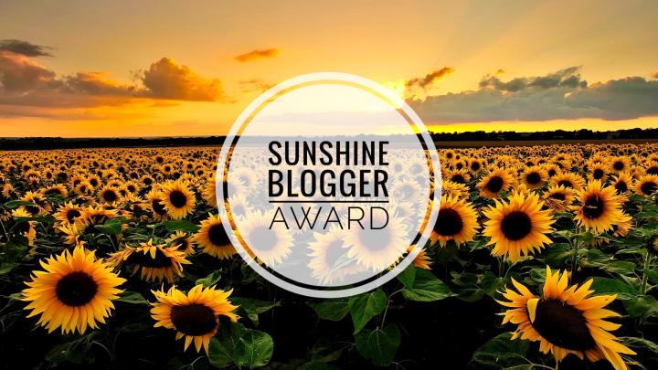 Sunshine Blogger Award - 2019 - Jessica Cantell