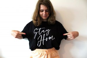 Femme Luxe 'Stay Home' T-Shirt Loungewear