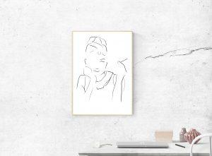 Audrey Hepburn digital art print