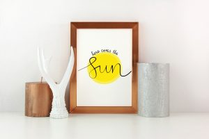 Here Comes the Sun digital print